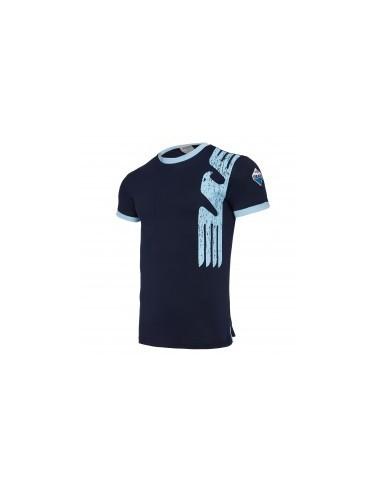 t-shirt cotone nav/cel linea fan senior ss lazio 2017/18