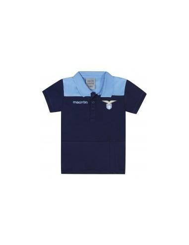 polo in cotone jersey nav/cel neonato ss lazio 2016/17