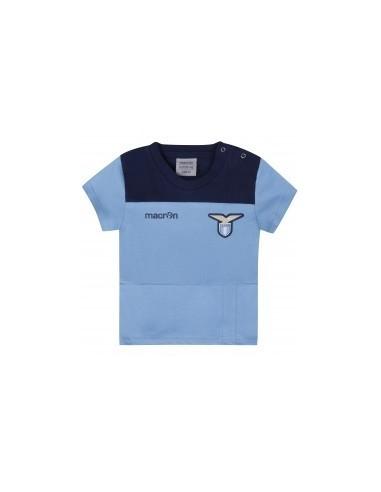 t-shirt in cotone cel/nav neonato ss lazio 2016/17