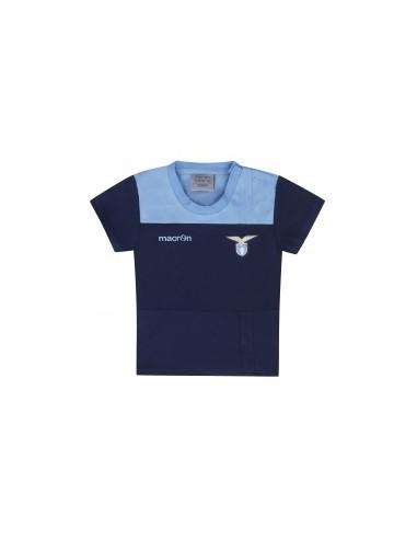 t-shirt in cotone nav/cel neonato ss lazio 2016/17