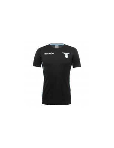 t-shirt poly linea fan ner/azz.fluo senior ss lazio 2016/17