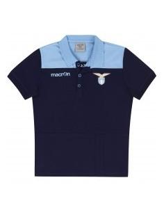 polo in cotone jersey nav/cel junior ss lazio 2016/17