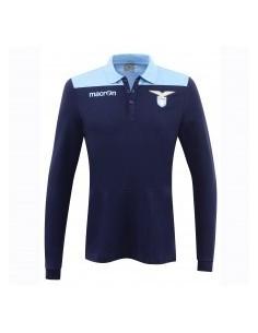 polo in cotone jersey a maniche lunghe nav/cel senior ss lazio 2016/17