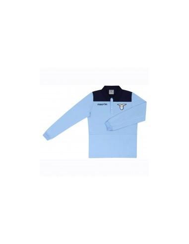 polo in cotone jersey a maniche lunghe nav/cel junior ss lazio 2016/17