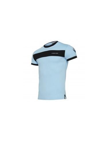 t-shirt cotone cel/ner linea fan senior ss lazio 2017/18