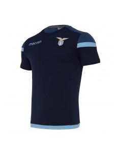 t-shirt cotone ufficiale senior nav/cel ss lazio 2017/18