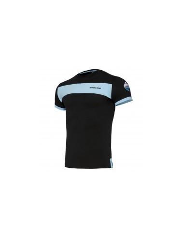 t-shirt cotone ner/cel linea fan senior ss lazio 2017/18