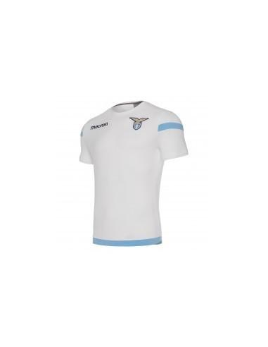 t-shirt cotone ufficiale bia/cel senior ss lazio 2017/18