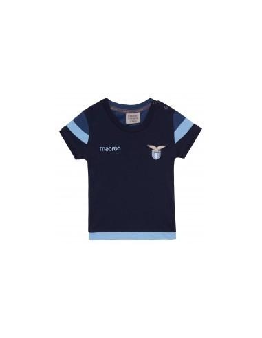 t-shirt cotone ufficiale nav/cel infant ss lazio 2017/18